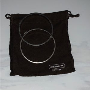 Coach sterling silver bangles